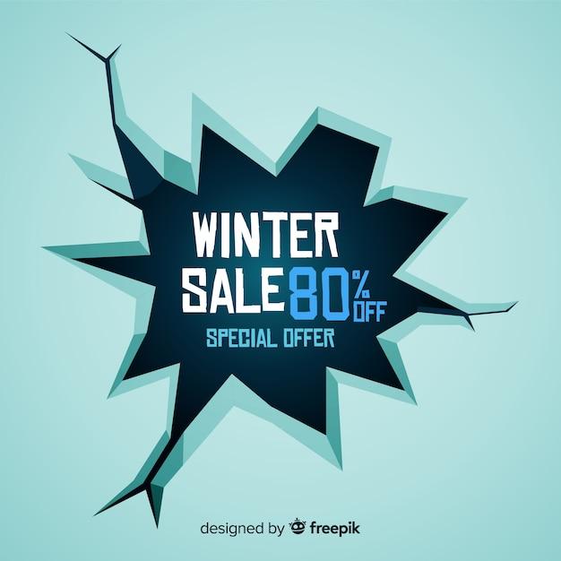 Fundo de venda de inverno de buraco de gelo Vetor grátis
