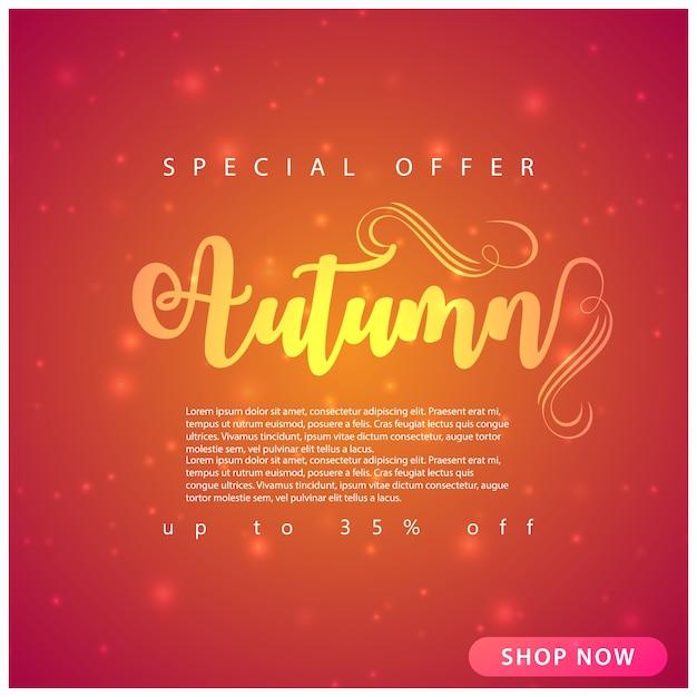 Fundo de venda de outono Vetor Premium