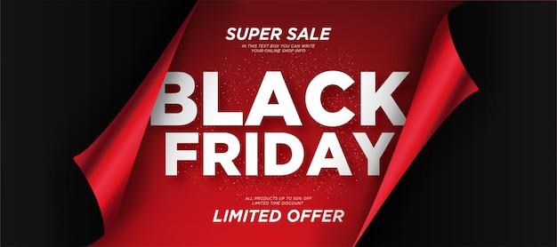 Fundo de venda de sexta-feira negra com papel realista Vetor grátis