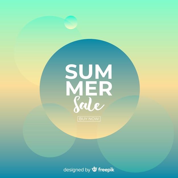 Fundo de venda de verão Vetor grátis