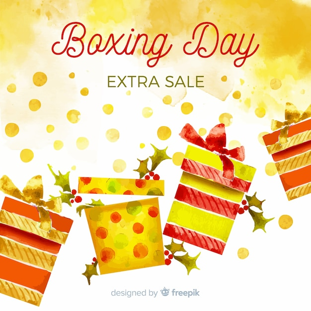 Fundo de venda do dia de boxe Vetor grátis