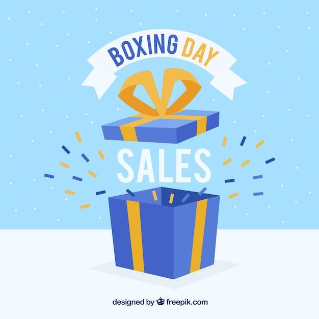Fundo de venda do dia do boxe Vetor grátis