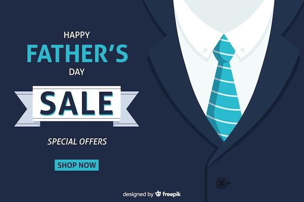 Fundo de venda do dia dos pais Vetor grátis