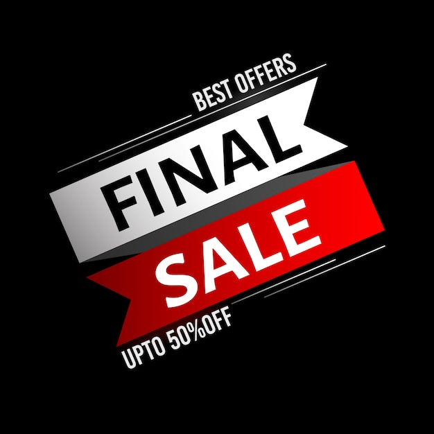 Fundo de venda final Vetor Premium