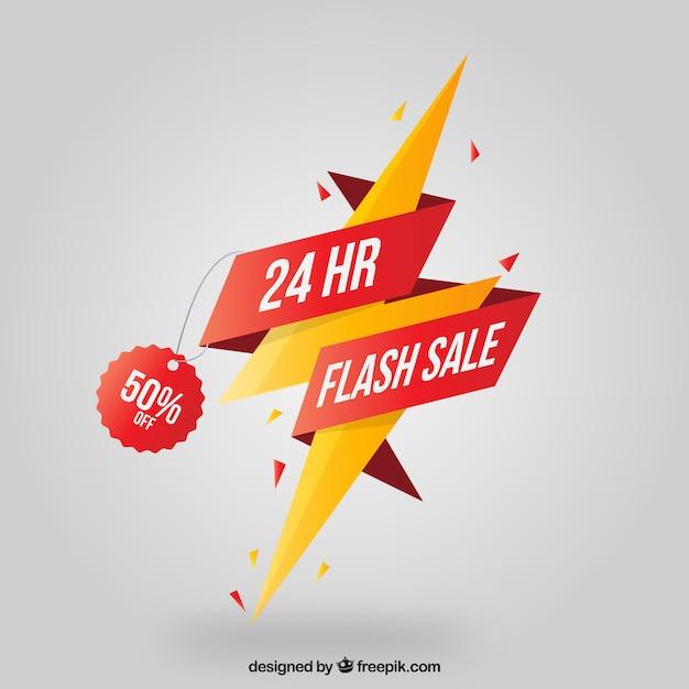 Fundo de venda flash em estilo plano Vetor grátis