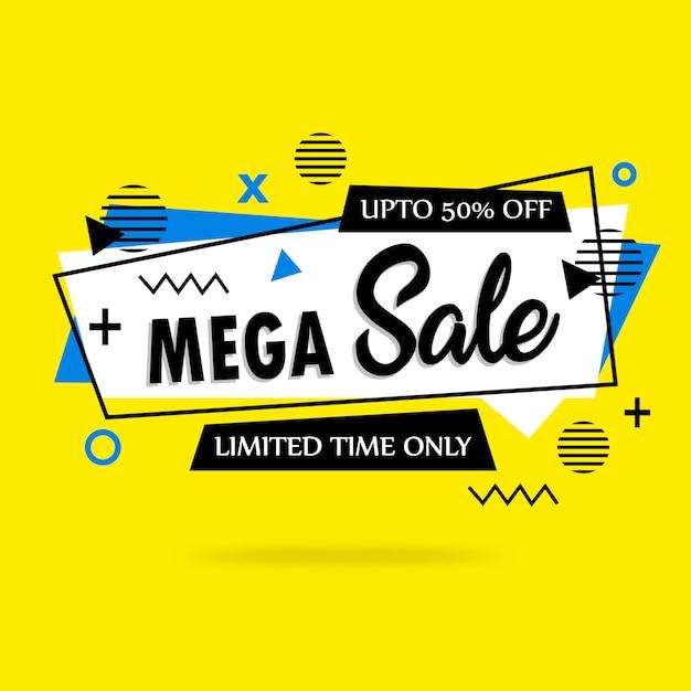 Fundo de venda mega colorido abstrato Vetor Premium