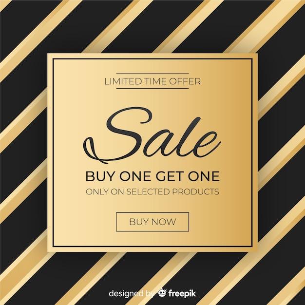 Fundo de venda preto e dourado Vetor grátis
