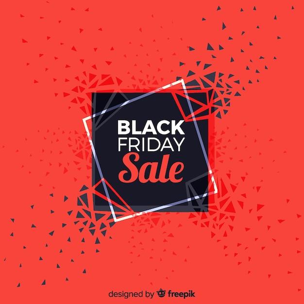 Fundo de venda sexta-feira negra abstrata em preto e vermelho Vetor grátis