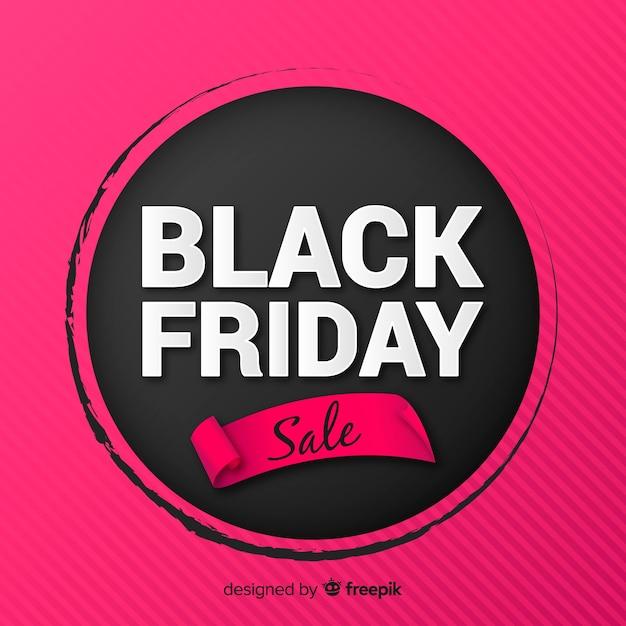Fundo de venda sexta-feira negra rosa Vetor grátis