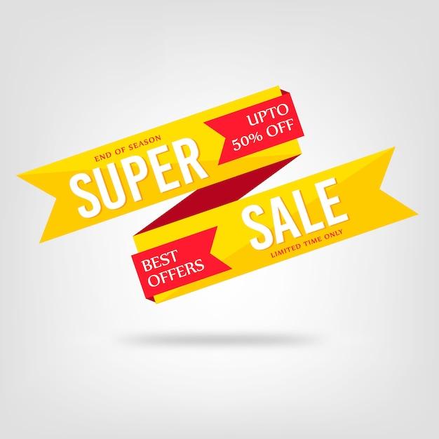 Fundo de venda super colorido abstrato Vetor Premium