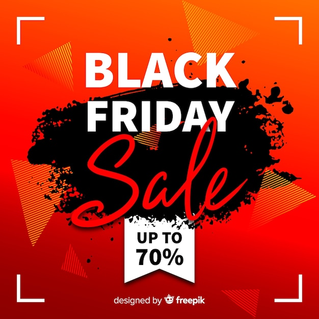 Fundo de vendas de sexta-feira negra abstrata Vetor grátis