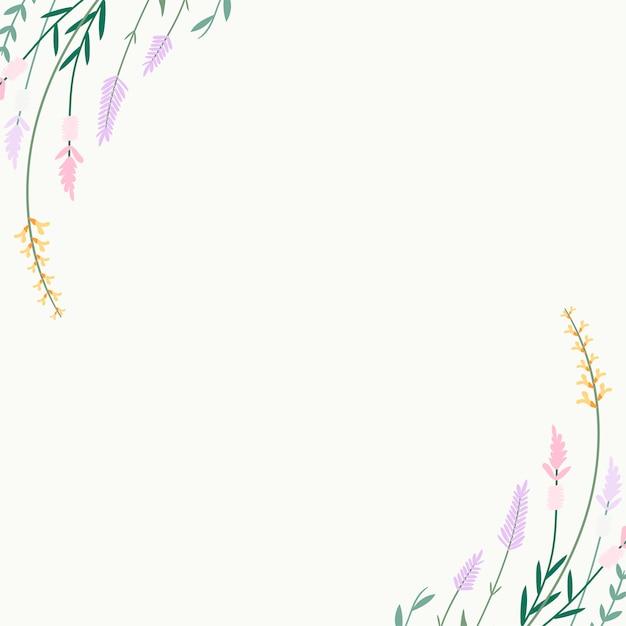 Fundo de verão floral Vetor grátis