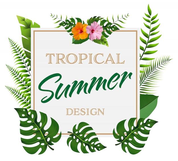 Fundo de verão na moda Vetor Premium