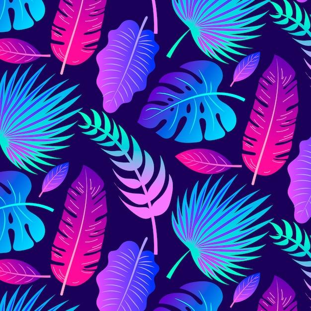 Fundo de verão tropical Vetor grátis