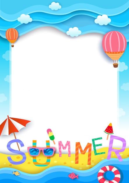 Fundo de verão Vetor Premium