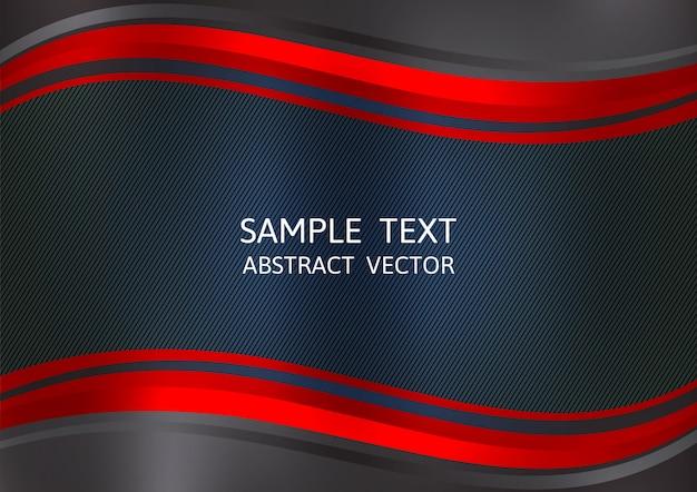 Fundo de vetor abstrato cor vermelho e preto Vetor Premium