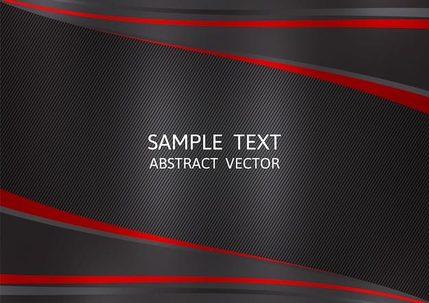 Fundo de vetor abstrato de cor preta e vermelha Vetor Premium