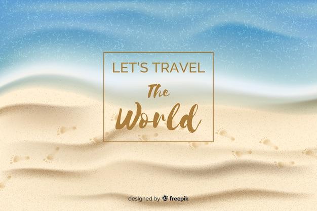Fundo de viagens realistas Vetor grátis