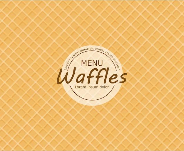 Fundo de waffle Vetor Premium