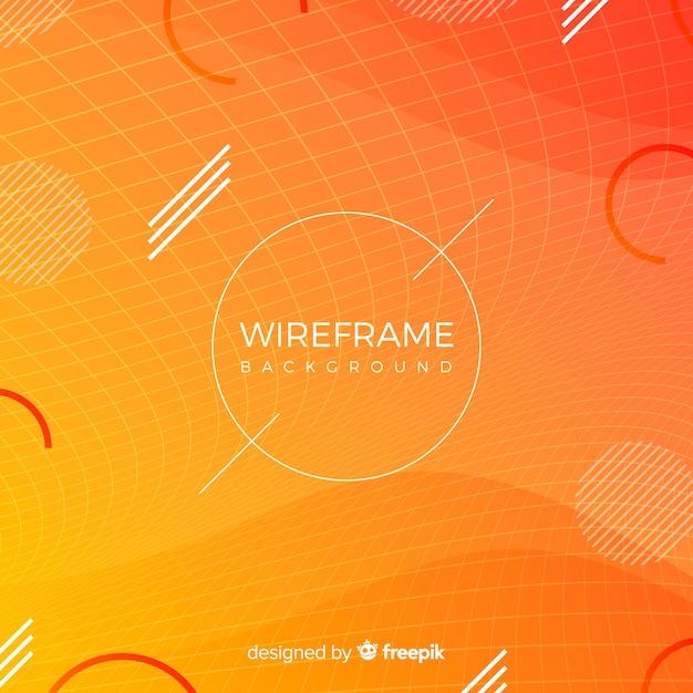 Fundo de wireframe Vetor grátis
