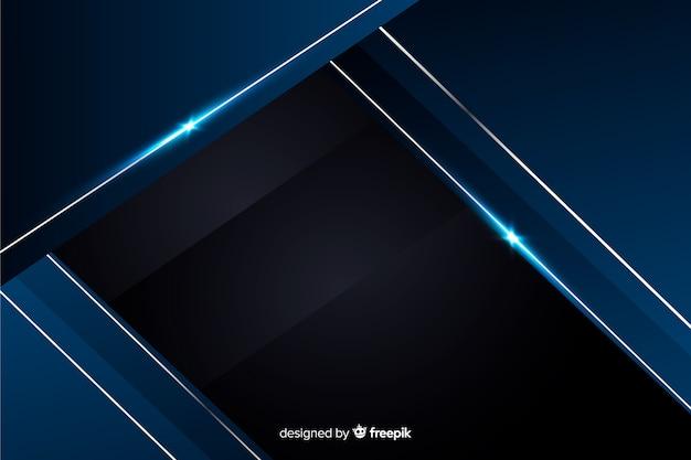 Fundo decorativo azul metálico abstrato Vetor grátis