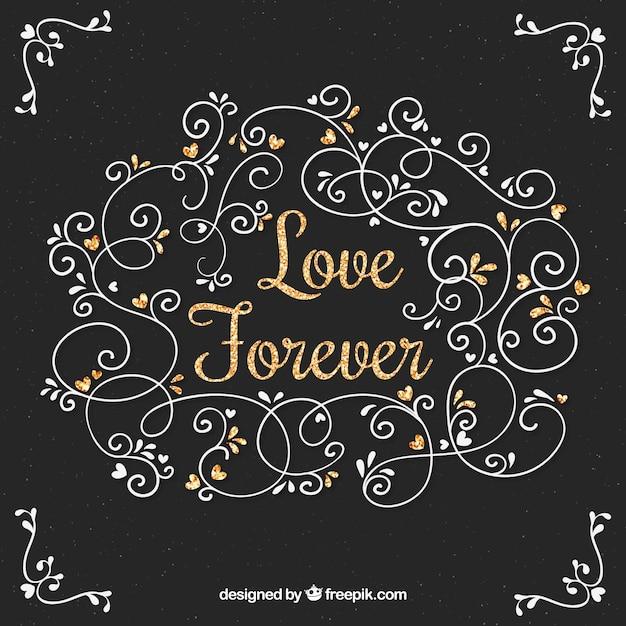 Fundo Decorativo Com Mensagem De Amor
