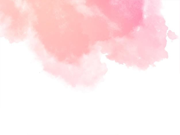 Fundo decorativo de textura aquarela rosa suave Vetor grátis
