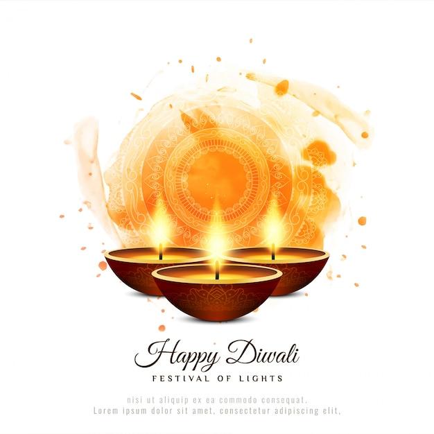 Fundo decorativo elegante feliz diwali Vetor grátis