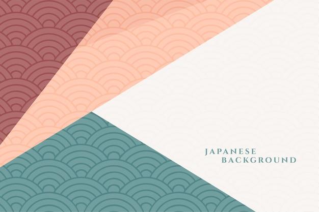 Fundo decorativo geométrico de estilo japonês Vetor grátis