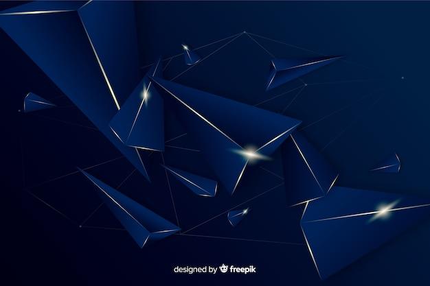 Fundo decorativo poligonal escuro elegante Vetor grátis