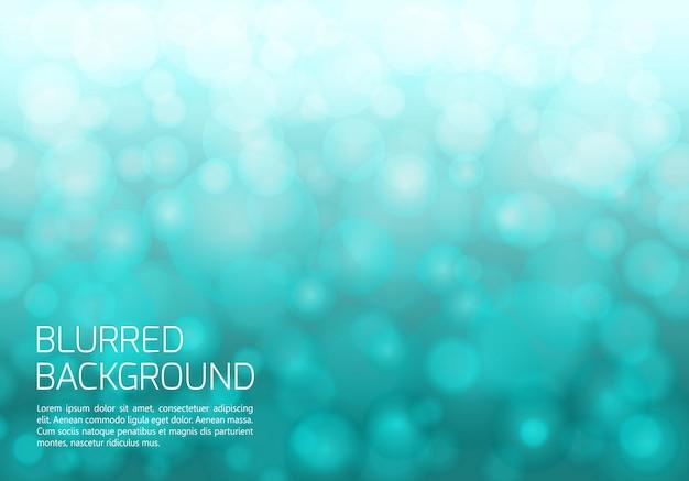 Fundo desfocado azul com luzes brilhantes Vetor Premium
