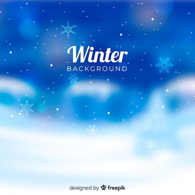 Fundo desfocado de inverno Vetor grátis