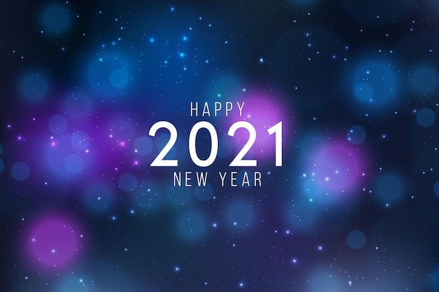 Fundo desfocado do ano novo de 2021 Vetor grátis