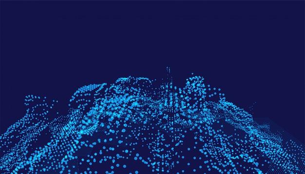 Fundo digital com partículas brilhantes de tecnologia Vetor grátis