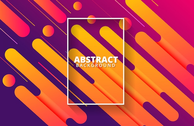 Fundo dinâmico com composição de formas abstratas e cores quentes Vetor Premium