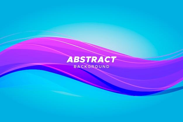 Fundo dinâmico de onda colorida Vetor grátis