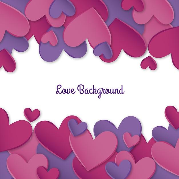 Fundo do amor Vetor grátis