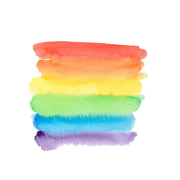 Fundo do arco-íris em aquarela. Vetor Premium