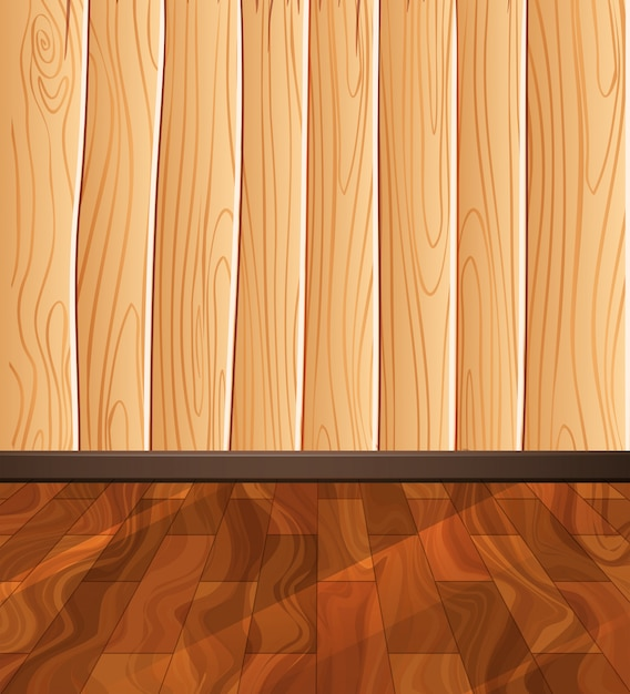 Fundo do assoalho de madeira Vetor grátis