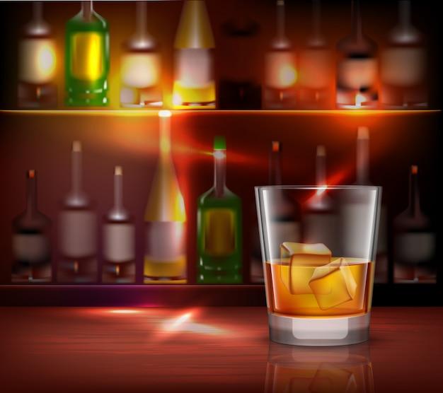 Fundo do balcão de bar Vetor grátis