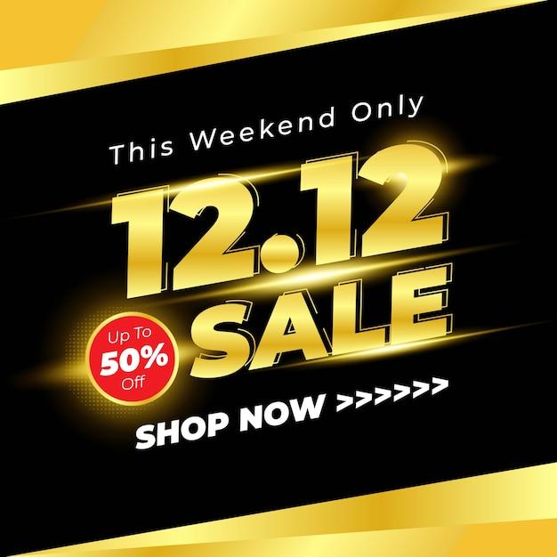 Fundo do banner de venda do dia de compras com cor preta Vetor Premium