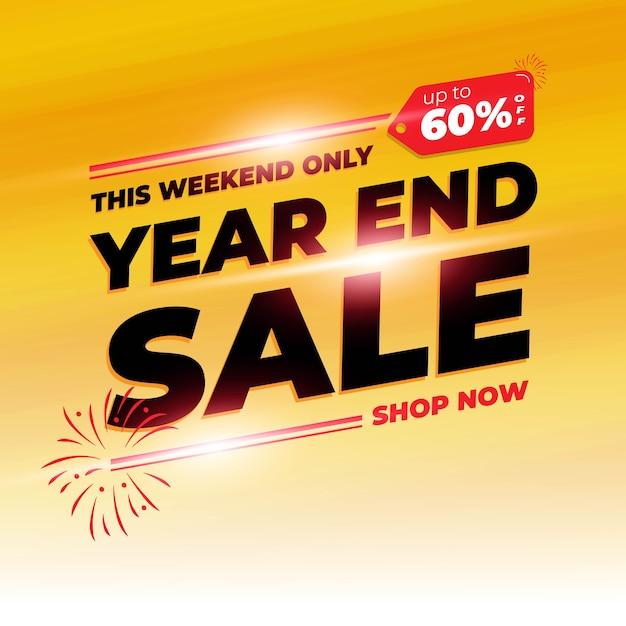 Fundo do banner de venda do dia de compras de fim de ano com cor laranja Vetor Premium