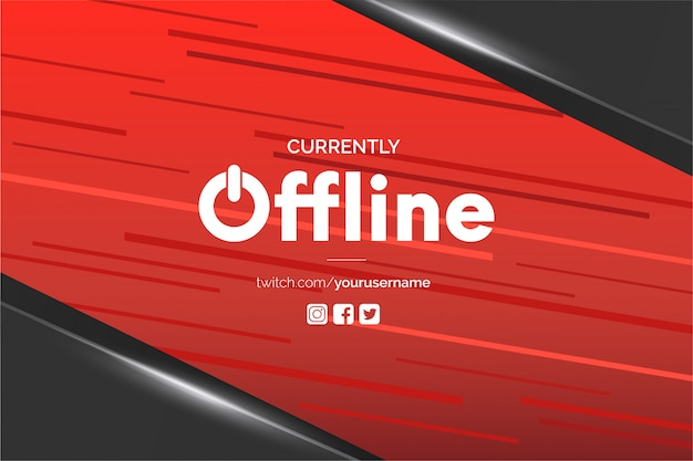 Fundo do banner twitch atualmente off-line Vetor grátis