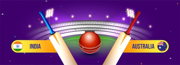 Fundo do campeonato de críquete. Vetor Premium