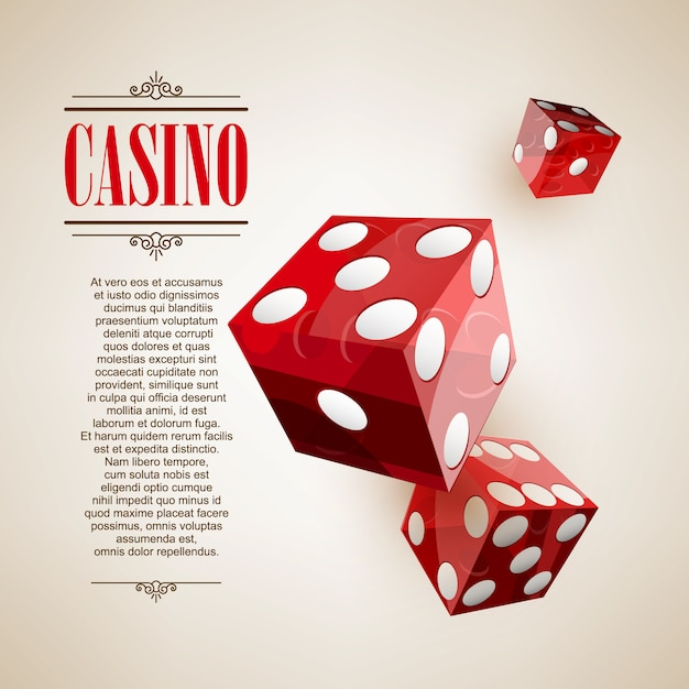 Fundo do cartaz do logotipo do casino ou flyer Vetor Premium
