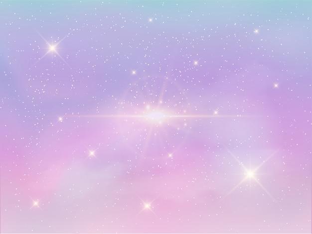 Fundo do céu à noite na cor pastel Vetor Premium