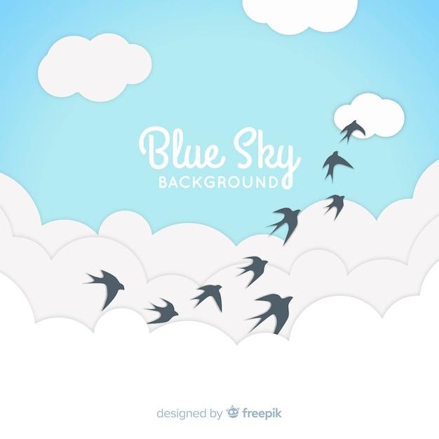 Fundo do céu azul Vetor grátis