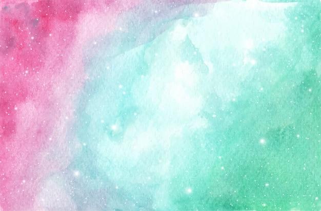 Fundo do céu da galáxia em aquarela com estrelas. fundo de fantasia e cor pastel. Vetor Premium