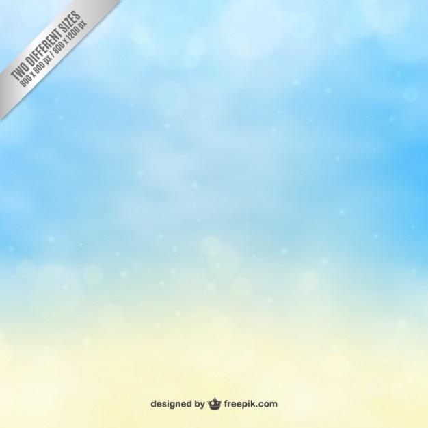 Fundo do céu em tons de azul e amarelo Vetor grátis
