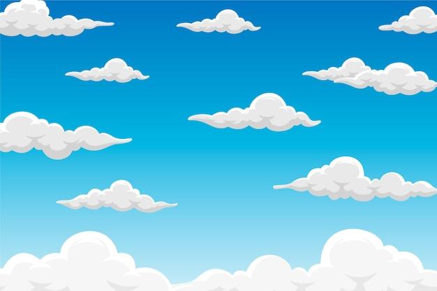 Fundo do céu para videoconferência Vetor grátis